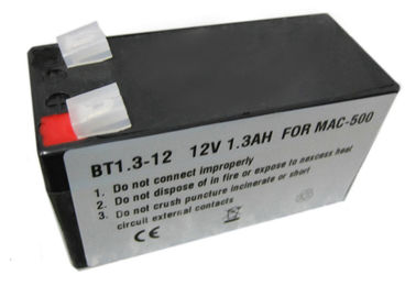 China Black Sealed Lead ECG Battery 12V 1300mAh For Ge Mac 500 Ecg Machine BT1.3-12 supplier