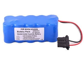 China 12 Volt Replacement Battery , 3000mAh For Nihon Kohden Tec 5521 Tec 5531 Series​ Battery supplier
