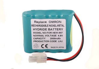China 4.8 Volt Battery Blood Pressure Monitor For Omron HEM-907 HEM-907XL , 2000mah Battery  supplier